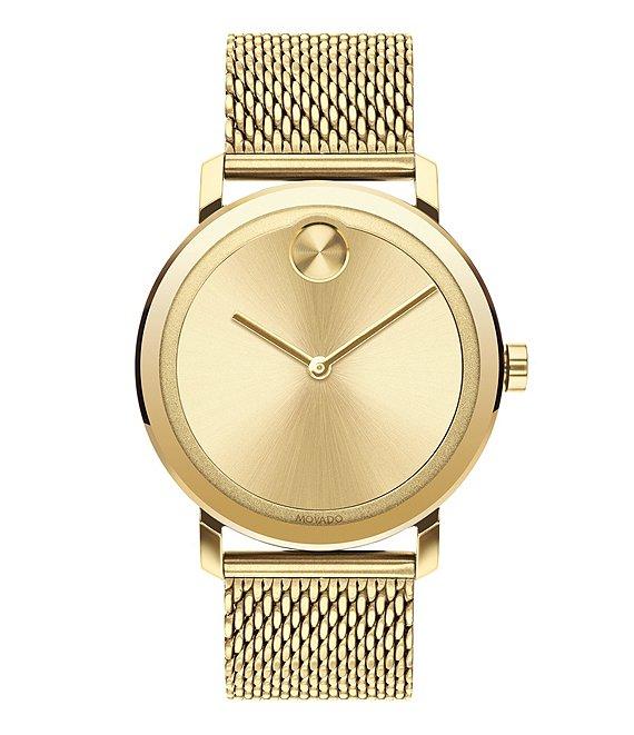 Movado Bold Evolution Gold Mesh Strap Bracelet Watch | Dillard