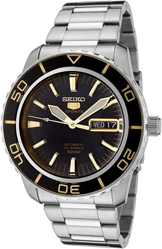 Amazon.com: Seiko Men's SNZH57 Seiko 5 Automatic Black Dial .