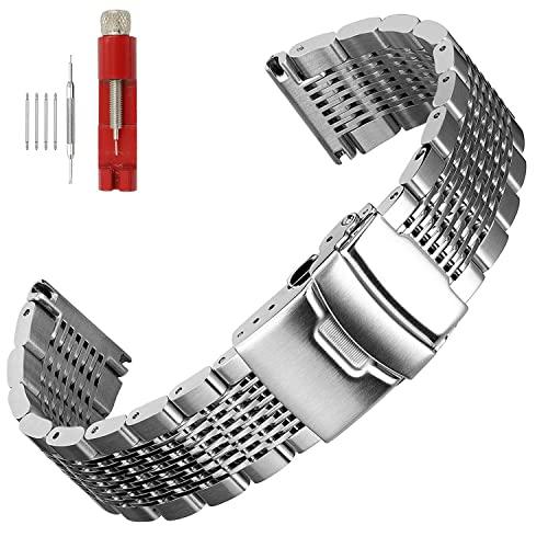 Steel 20mm Watch Bracelet: Amazon.c