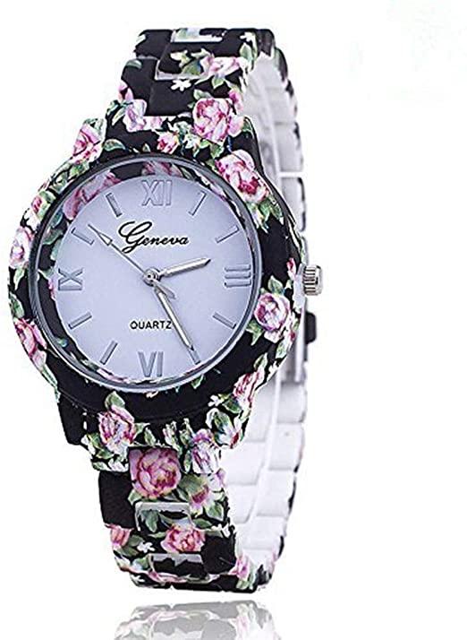 Amazon.com: New Floral Flower Geneva Watch Bracelet Watch Women .