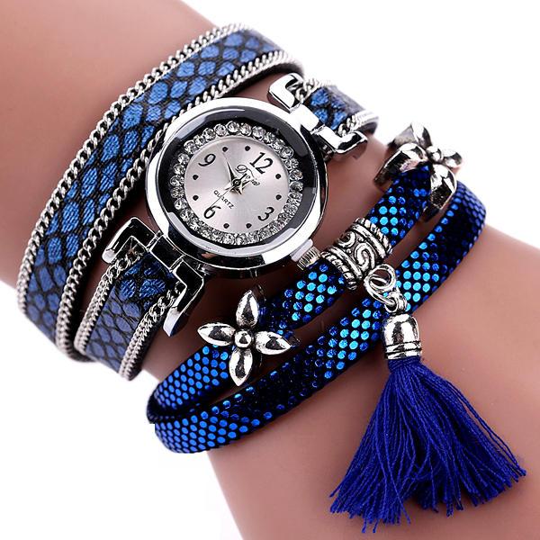 duoya fashion serpentine pattern strap ladies bracelet watch .