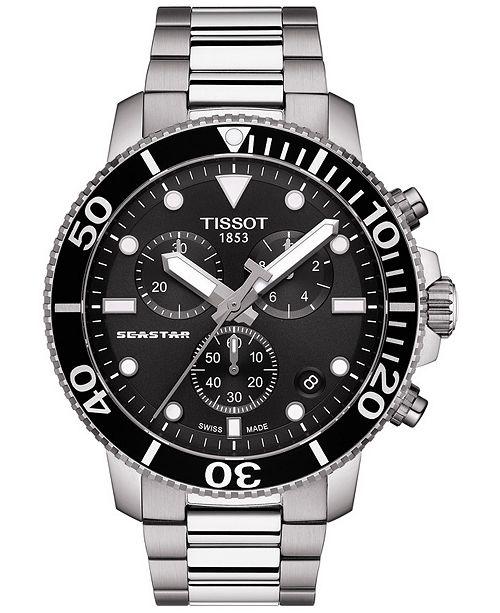 Tissot Men's Swiss Chronograph Seastar 1000 Stainless Steel .