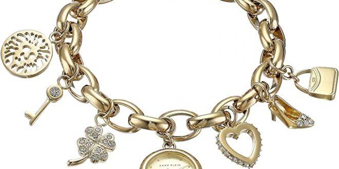 Amazon.com: Anne Klein Women's 10-7604CHRM Swarovski Crystal Gold .