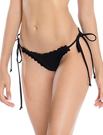 Amazon.com: RELLECIGA Women's Wavy Tie Side Brazilian Bikini .