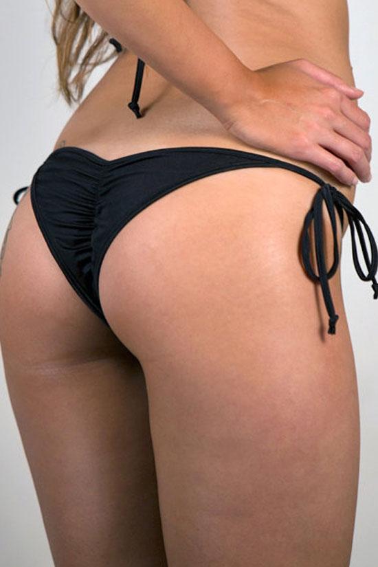 Tie Side String Scrunch Brazilian Bikini Bottom – Bikinis