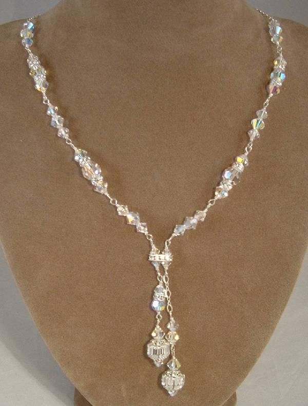 Swarovski Bridal Necklaces. Custom Swarovski Crystal Bridesmaid .