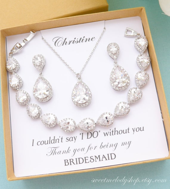 Bridesmaid Jewelry Bridesmaid Gift Bridesmaid Jewelry Set | Et