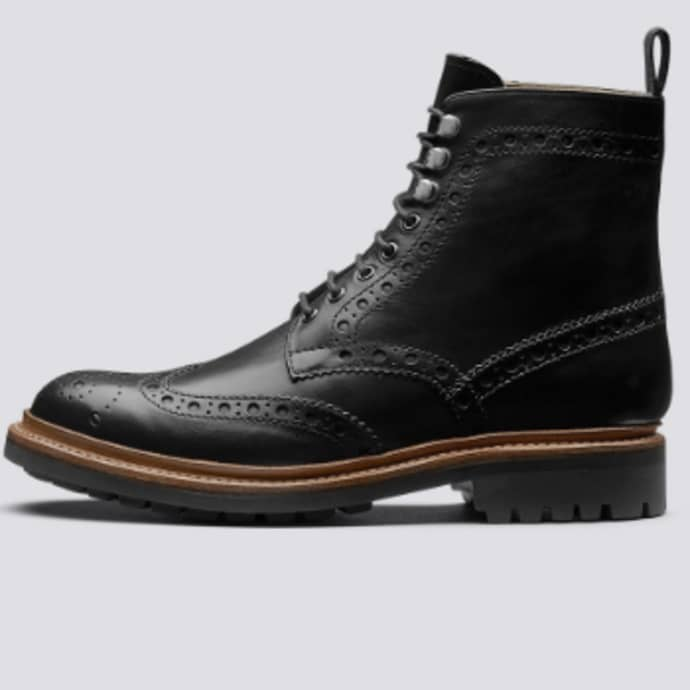 Trouva: Black Calf Leather Fred Mens Brogue Boo