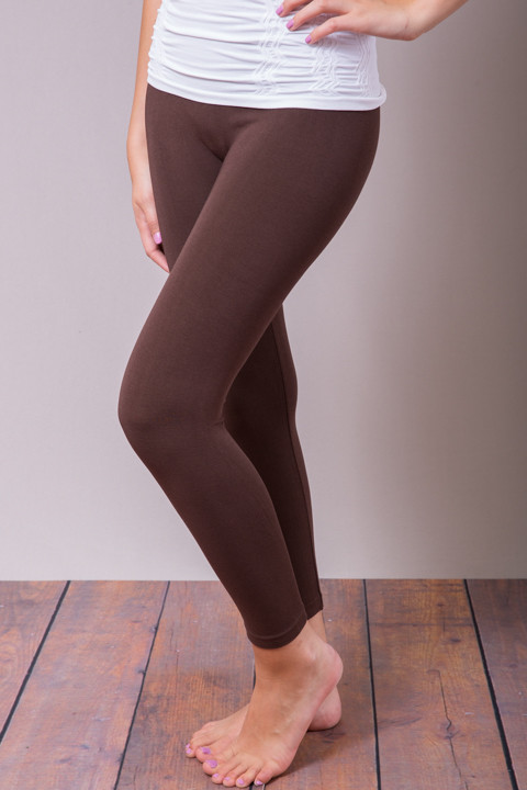 Brown Cropped Leggings | Lounge Pants | M. Re
