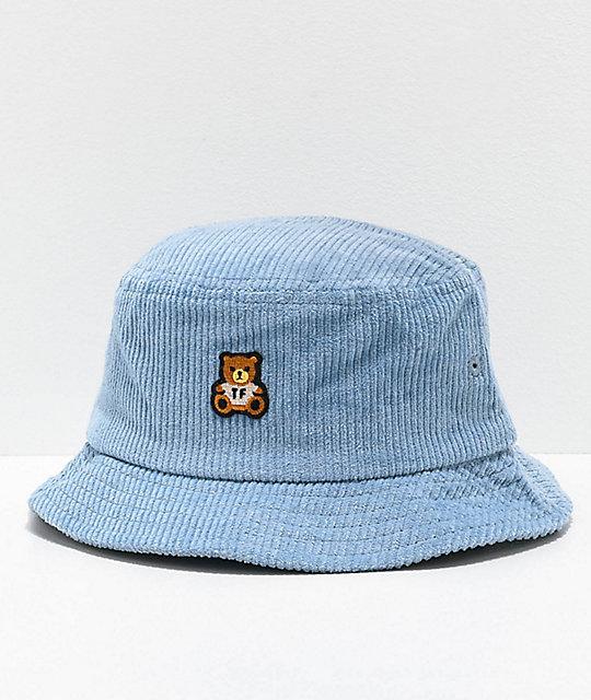 Teddy Fresh Corduroy Blue Bucket Hat   Zumi