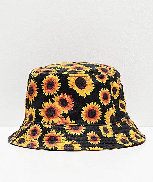 Empyre Sunflower Black Bucket Hat   Zumi
