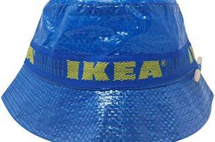 IKEA Bucket Hat with Pencil Handmade Cap Fashion Street Wear Blue .