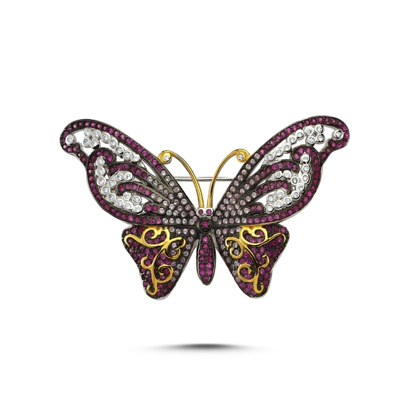 Cubic Zirconia Swarovski Butterfly Brooch | Boutique Ottoman Exclusi