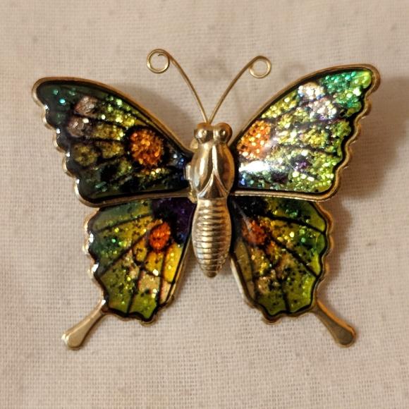 Jewelry | Vintage Enamel Butterfly Brooch | Poshma