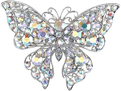 Amazon.com: Alilang Aurora Borealis Crystal Rhinestone Silvery .