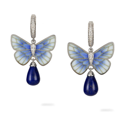 A pair of lapis butterfly earrings by Ilgiz F - Earrings, Modern .