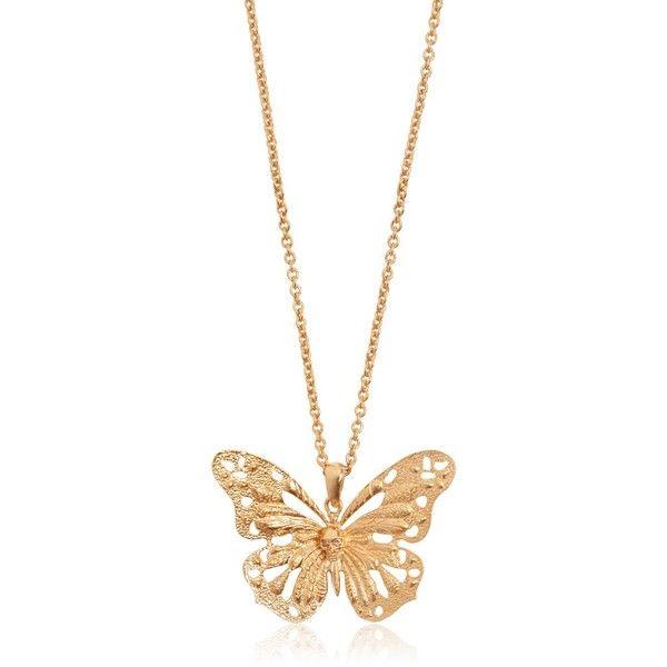 ALEXANDER MCQUEEN Butterfly Pendant Necklace ❤ | Butterfly .