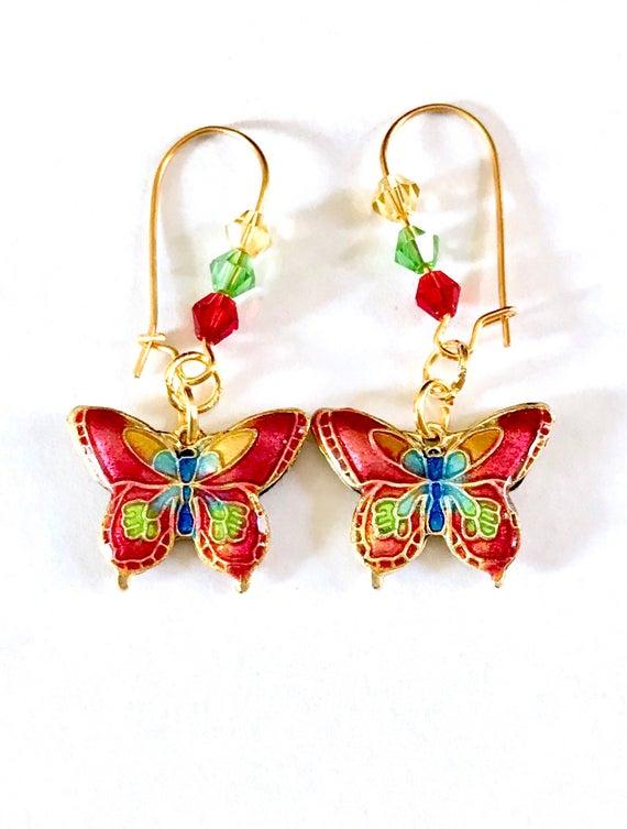 Butterfly Earrings Butterfly Jewellery Butterfly Gift | Et