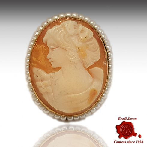 Pearl Victorian Antique Shell Cameo Brooch Vintage | Jovon Veni