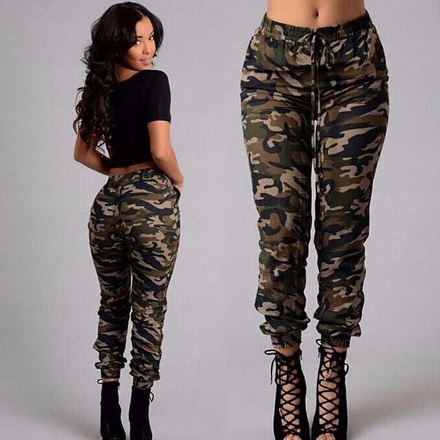 2019 Fashion Camouflage Pants Joggers Women Plus Size Military .