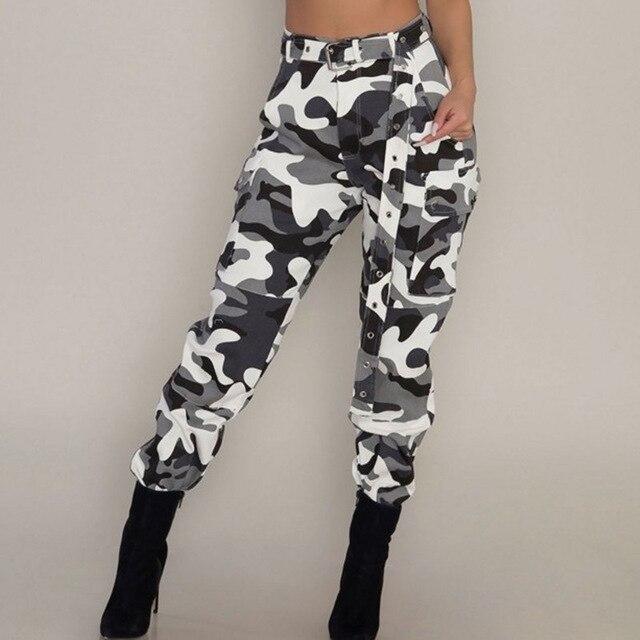 Camouflage Pants Women Harem Casual Sexy Camo Pants Sweatpant High .