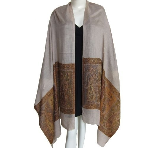 Cream And Brown Female Cashmere Pashmina Shawl, Rs 4004 /piece .