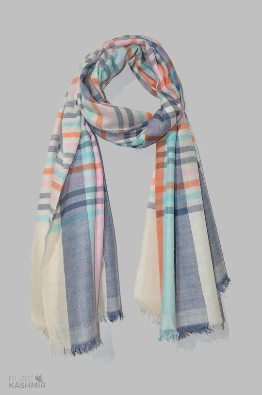 Buy Pastel Color Handwoven Cashmere Pashmina Shawl – purekashmir.c