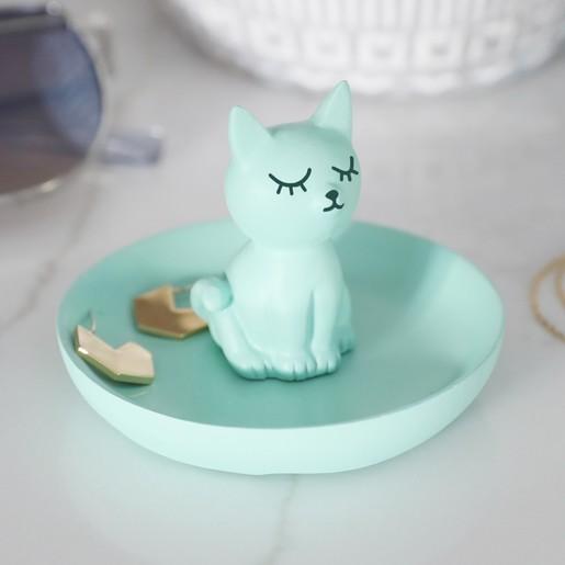 Mini Cat Jewellery Dish in Green | Jewellery Storage | Lisa Ang