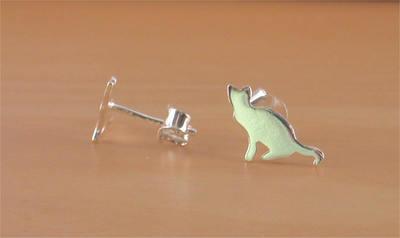 925 Cat Stud Earrings/Cat Earrings/Cat Jewelry/Cat Jewellery .