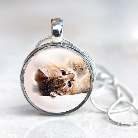Cat Jewellery Cat necklace Cat pendant Kitten Necklace | Et