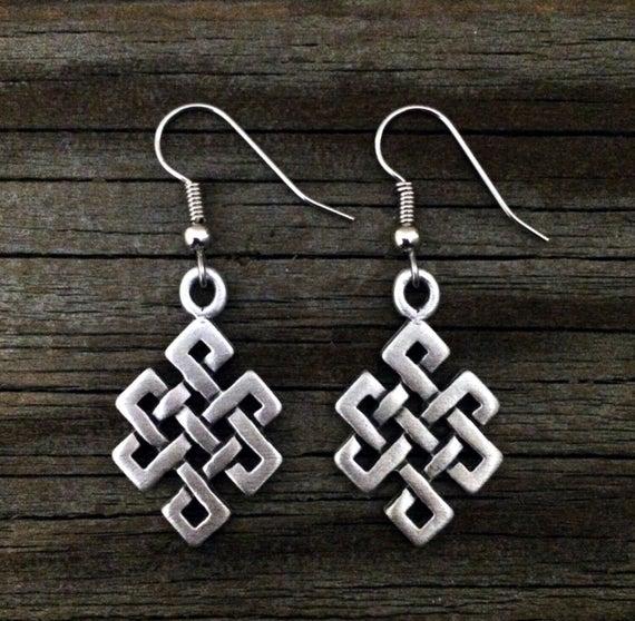 Celtic Endless Knot Earrings Celtic Jewelry Irish Jewelry | Et