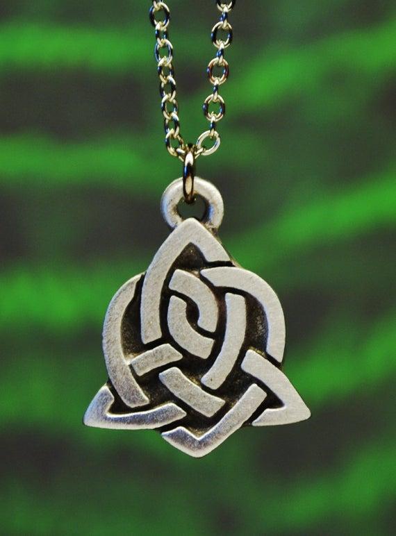 Celtic Sister Knot Necklace Celtic Jewelry Irish Jewelry | Et