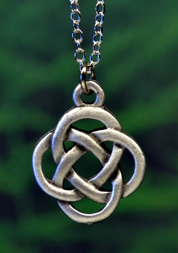 Celtic Eternity Knot Necklace Celtic Jewelry Handcrafted in | Et