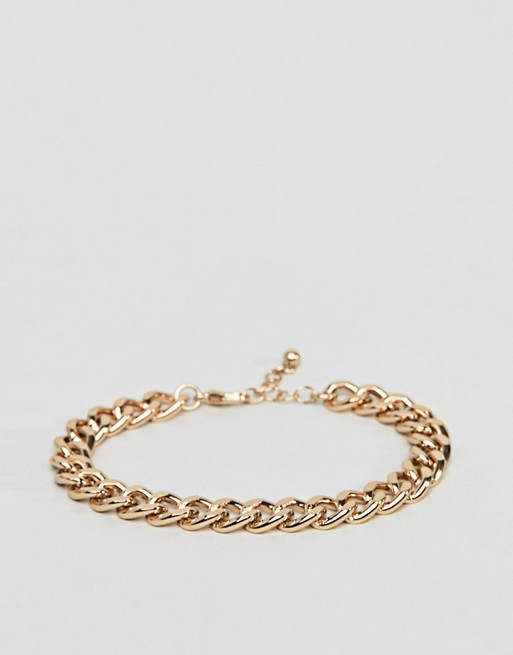 ASOS DESIGN midweight chain bracelet in gold tone | AS