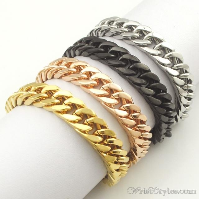 Mens Curb Chain Bracelet   Wrist Styl