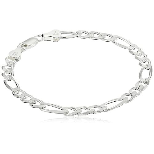 Sterling Silver Chain Bracelet: Amazon.c