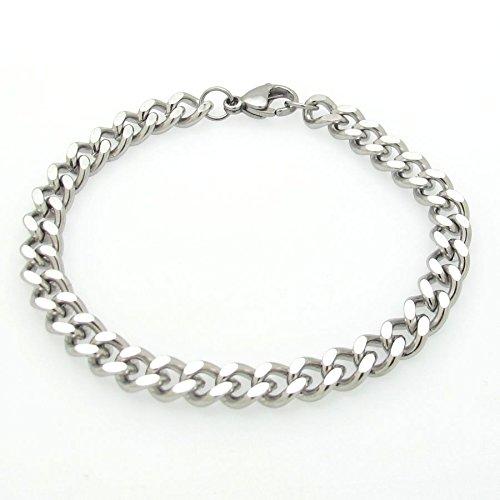 Amazon.com: Men's Chain Bracelet. Mens Silver Bracelets, Jewelry .