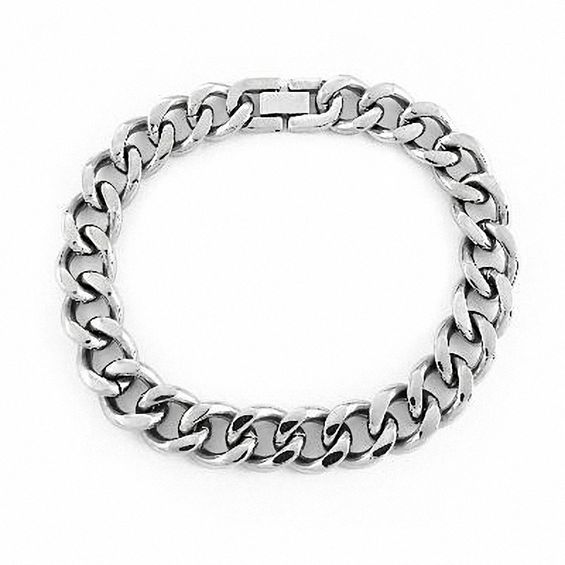 Men's 12.0mm Curb Chain Bracelet in Stainless Steel - 9.0"
