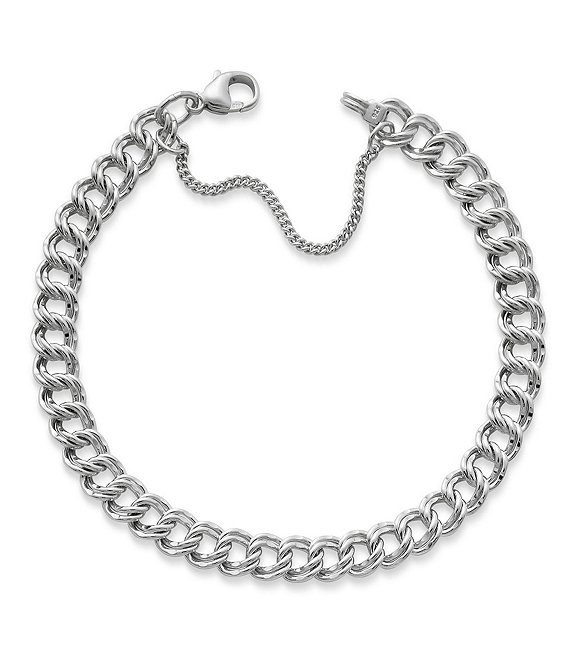 James Avery Medium Double Curb Chain Charm Bracelet   Dillard