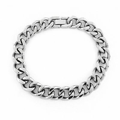 Men's 12.0mm Curb Chain Bracelet in Stainless Steel - 9.0 .