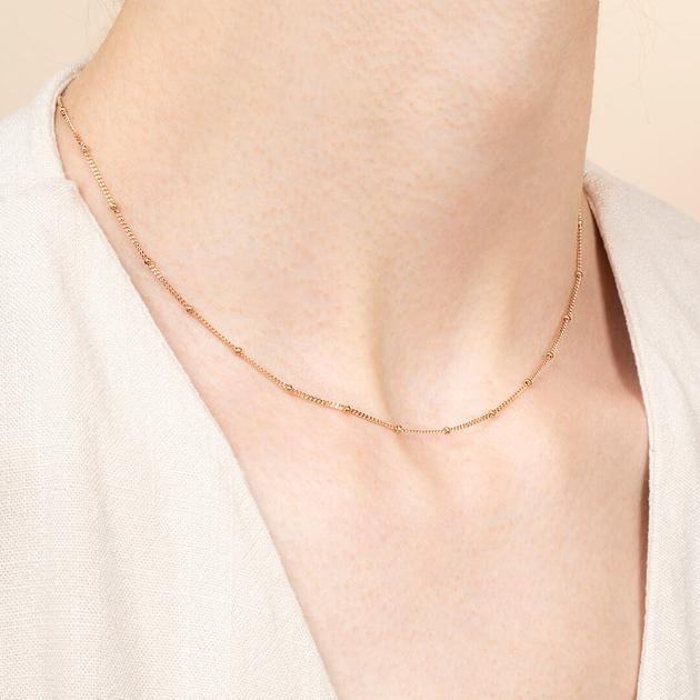 Small Ball Chain Necklace - Ana Rose Gold | Ana Luisa Jewel