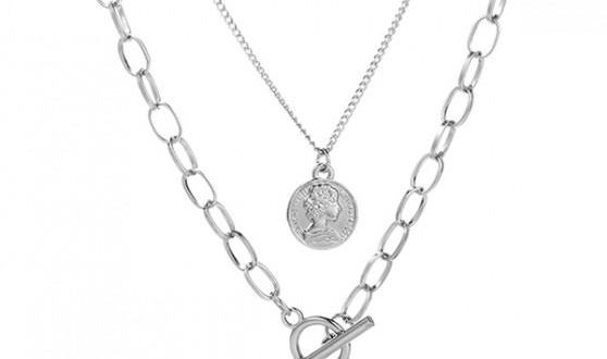 69% OFF] 2020 Valentine Multilayer Pendant Chain Necklaces In .