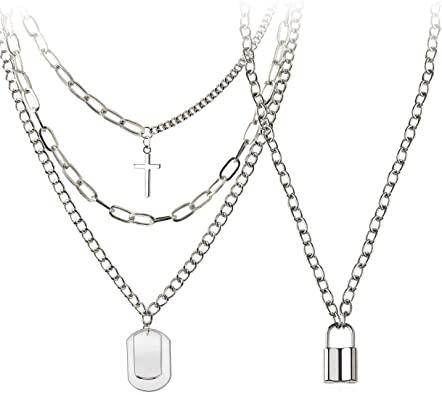BVROSKI Eboy Chain Necklace for Men Women Egirl Lock Chains Choker .