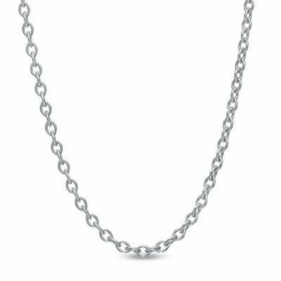 """1.5mm Cable Chain Necklace in 14K White Gold - 20"""" 