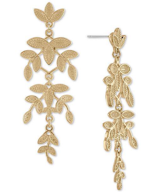 RACHEL Rachel Roy Gold-Tone Leaf Chandelier Earrings & Reviews .