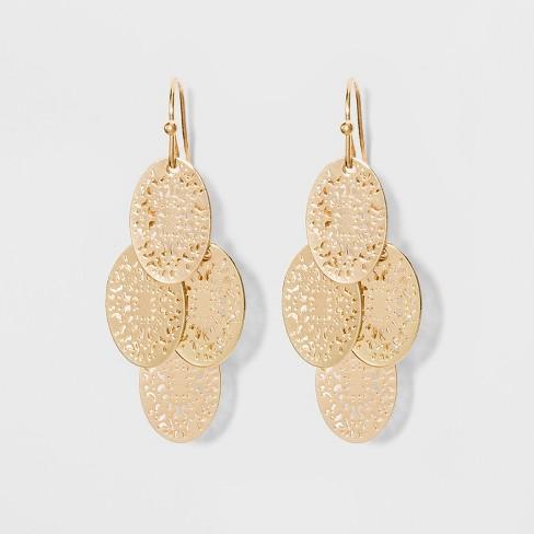 Filigree Chandelier Earrings - A New Day™ Gold : Targ