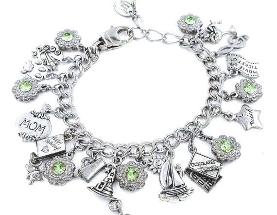 Starter Charm Bracelet with your choice of Charms of your | Et