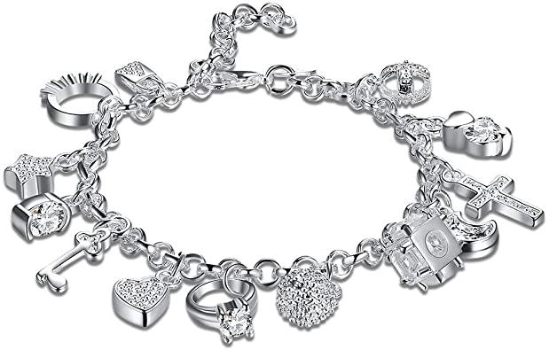 Amazon.com: Zealmer Daycindy Love Charms Bracelets for Women .