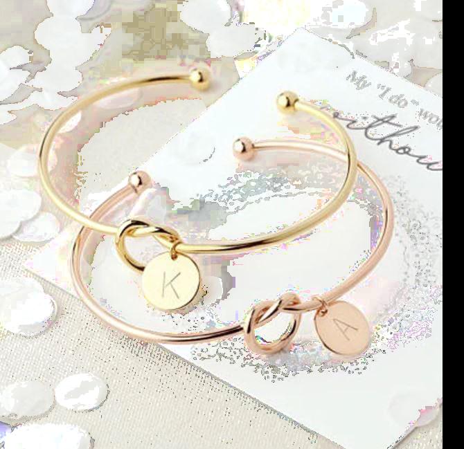 Fashion Hot Rose Gold/Silver Alloy Letter Charm Bracelet – Jewel .