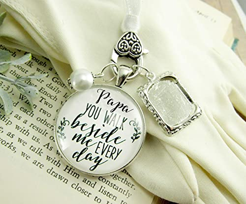 Amazon.com: Papa Wedding White Bouquet Charm Grandpa Photo Frame .